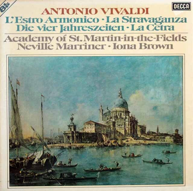 マリナー&アカデミー室内管弦楽団のヴィヴァルディ/「四季」、「調和の幻想」ほか 独DECCA 3320 LP レコード