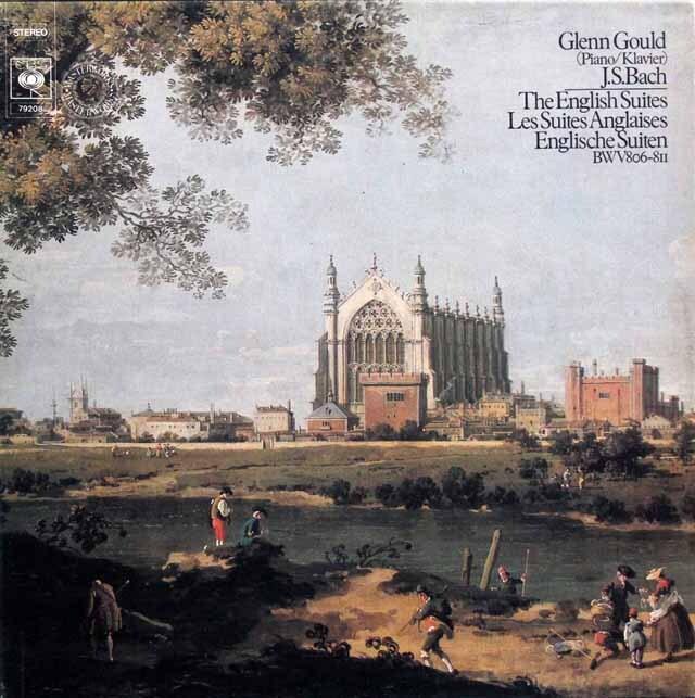 グールドのバッハ/イギリス組曲 独CBS 3320 LP レコード