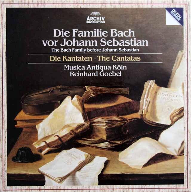 ゲーベル&ムジカ・アンティクヮ・ケルンの「ヨハン・セバスチャン以前のバッハ・ファミリー」 独ARCHIV 3320 LP レコード
