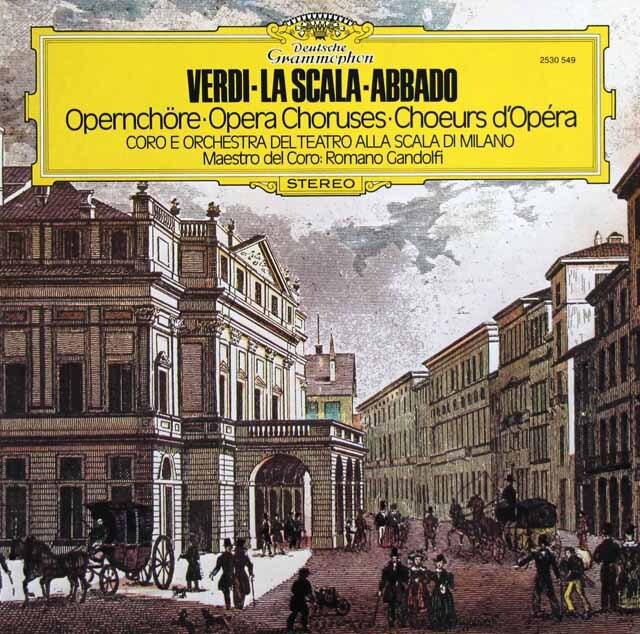 アバド&スカラ座のヴェルディ/「オペラの合唱曲集」 独DGG 3321 LP レコード