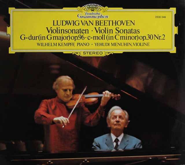 メニューイン&ケンプのベートーヴェン/ヴァイオリン・ソナタ第7、10番 独DGG 3321 LP レコード