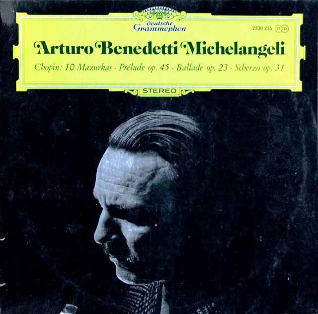 ミケランジェリのショパン/10のマズルカ、前奏曲第25番ほか 独DGG 3321 LP レコード