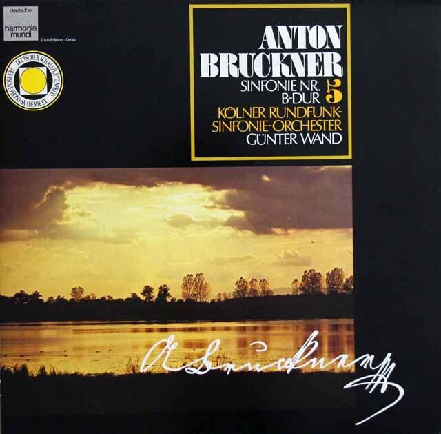 ヴァントのブルックナー/交響曲第5番 独HM 3321 LP レコード