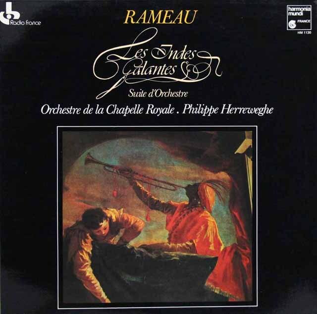 ヘレヴェッヘのラモー/「優雅なインドの国々」管弦楽組曲 仏HM 3321 LP レコード