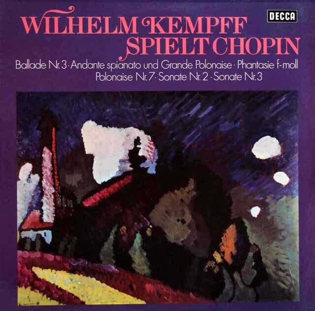ケンプのショパン/ピアノ作品集 独DECCA 3321 LP レコード
