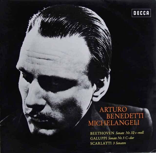 ミケランジェリのベートーヴェン、ガルッピ、スカルラッティ/ソナタ集 独DECCA 3321 LP レコード