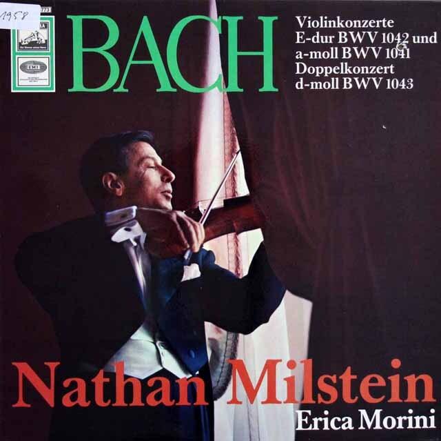 ミルシュタイン&モリーニのバッハ/2つのヴァイオリンのための協奏曲ほか 独EMI 3321 LP レコード