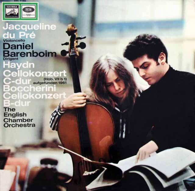 【独最初期盤】 デュ・プレのハイドン&ボッケリーニ/チェロ協奏曲 独EMI 3321 LP レコード