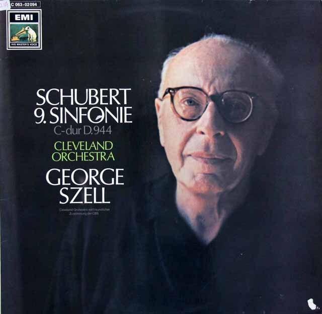 セルのシューベルト/交響曲第9番「ザ・グレイト」 独EMI   3321 LP レコード