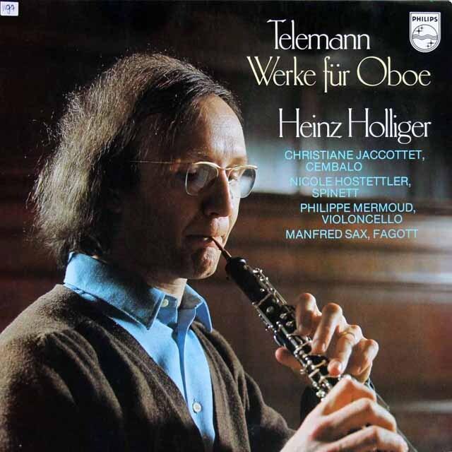 ホリガーのテレマン/オーボエ室内楽曲集 蘭PHILIPS 3321 LP レコード