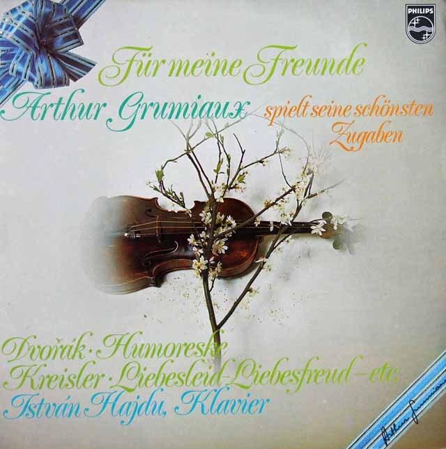 グリュミオーのヴァイオリン・アンコール集 蘭PHILIPS 3321 LP レコード