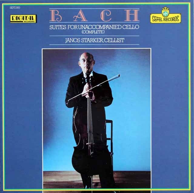 シュタルケルのバッハ/無伴奏チェロ組曲(全曲) 独SEFEL RECORDS 3321 LP レコード