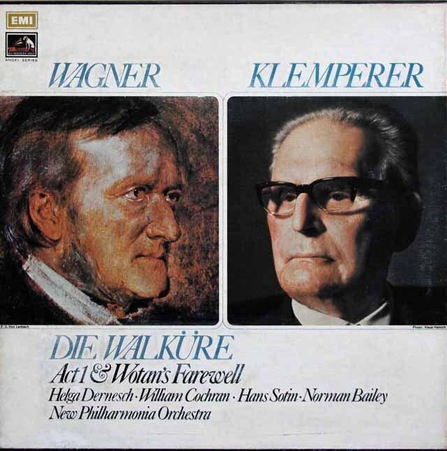 【オリジナル盤】 クレンペラーのワーグナー/「ワルキューレ」第1幕ほか 英EMI 3321 LP レコード