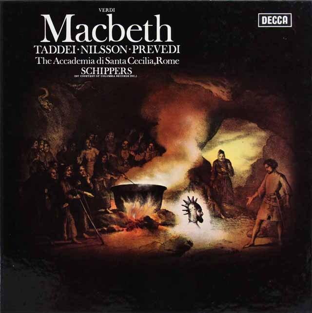 タッディ、二ルソンらのヴェルディ/「マクベス」(全曲) 英DECCA 3321 LP レコード