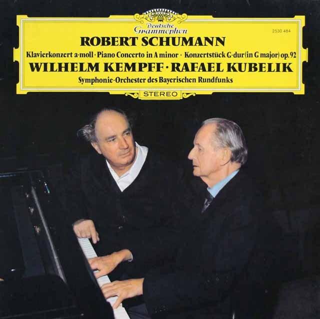 ケンプ&クーベリックのシューマン/ピアノ協奏曲ほか 独DGG 3321 LP レコード