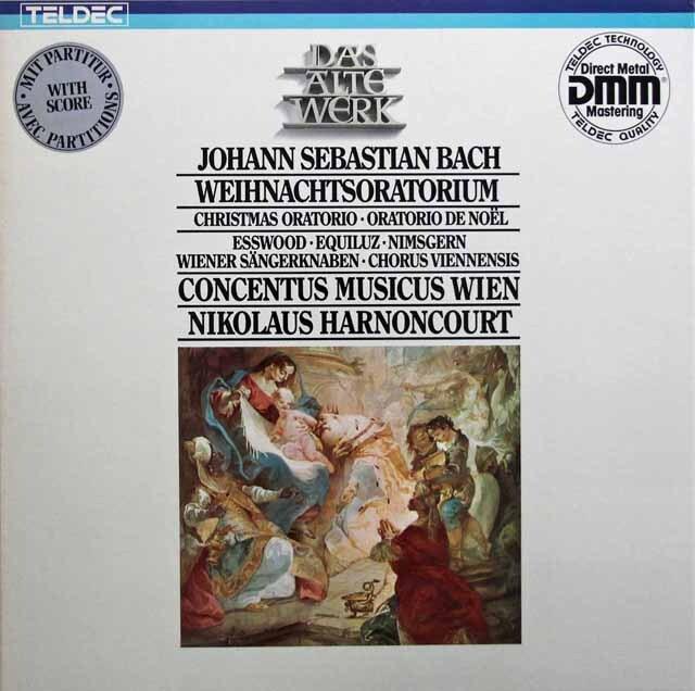 アーノンクールのバッハ/クリスマス・オラトリオ 独TELDEC 3321 LP レコード