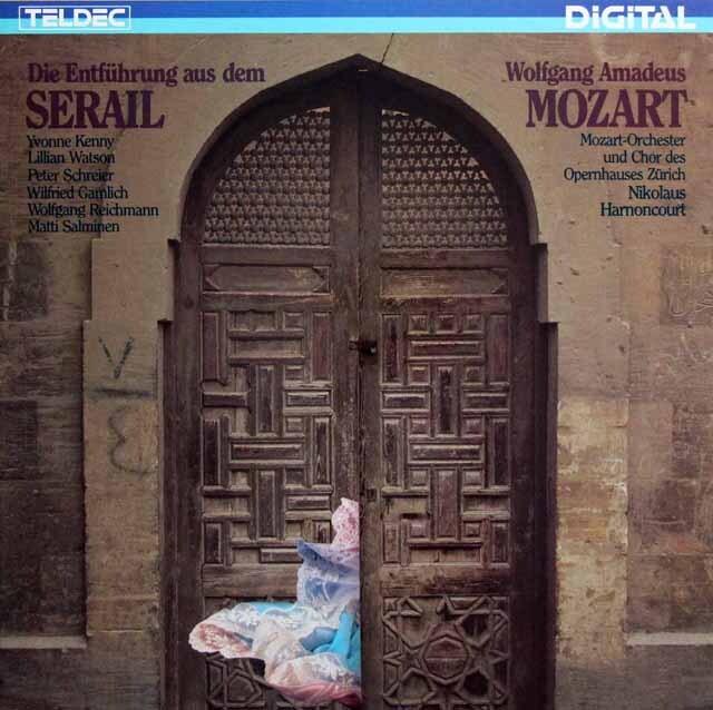 アーノンクールのモーツァルト/歌劇「後宮からの誘拐」全曲 独TELDEC 3321 LP レコード