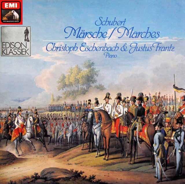 エッシェンバッハ、フランツのシューベルト/4手のピアノによる行進曲集 独EMI 3321 LP レコード