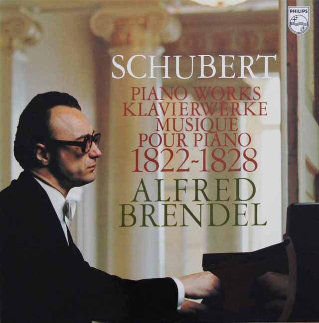 ブレンデルのシューベルト/ピアノ作品集 1822-1828  蘭PHILIPS 3321 LP レコード