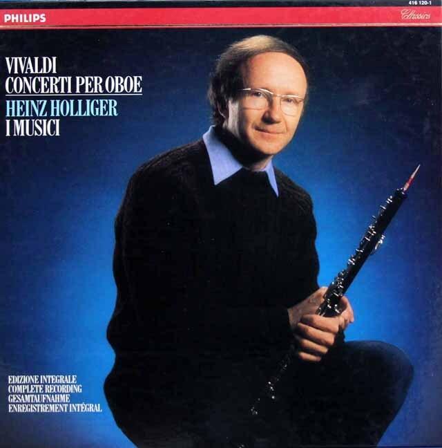 ホリガー&イ・ムジチのヴィヴァルディ/オーボエ協奏曲集 蘭PHILIPS 3321 LP レコード