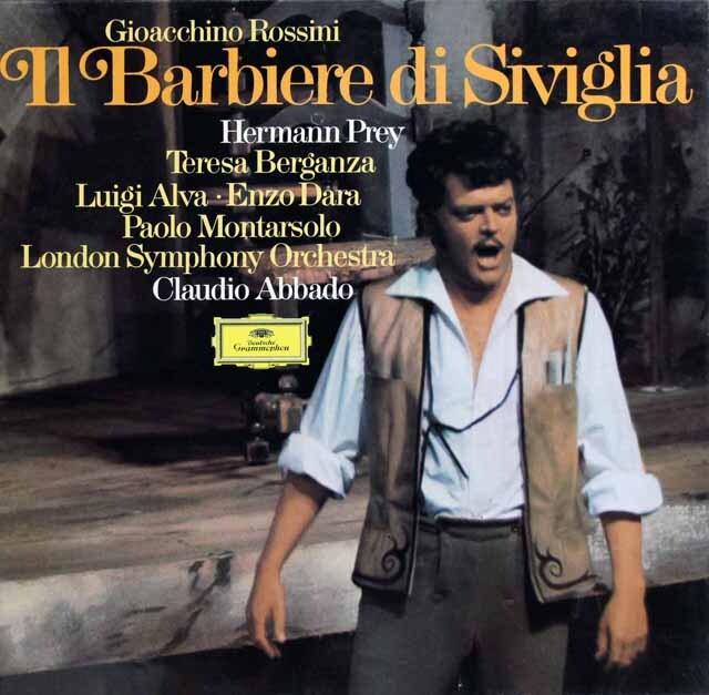 【未開封】 アバドのロッシーニ/「セビリアの理髪師」全曲 独DGG 3321 LP レコード
