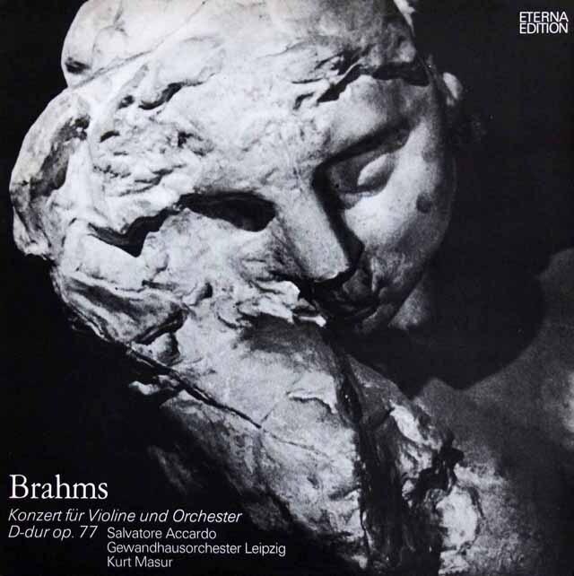 アッカルド&マズアのブラームス/ヴァイオリン協奏曲 独ETERNA 3322 LP レコード