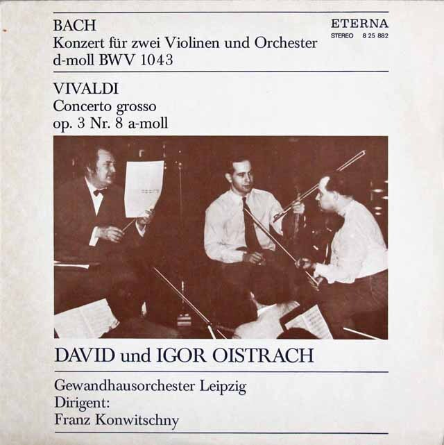 オイストラフ親子のバッハ/2つのヴァイオリンのための協奏曲 独ETERNA 3322 LP レコード