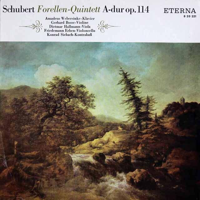 ボッセ、ウェーバージンケらのシューベルト/ピアノ五重奏曲「ます」 独ETERNA 3322 LP レコード