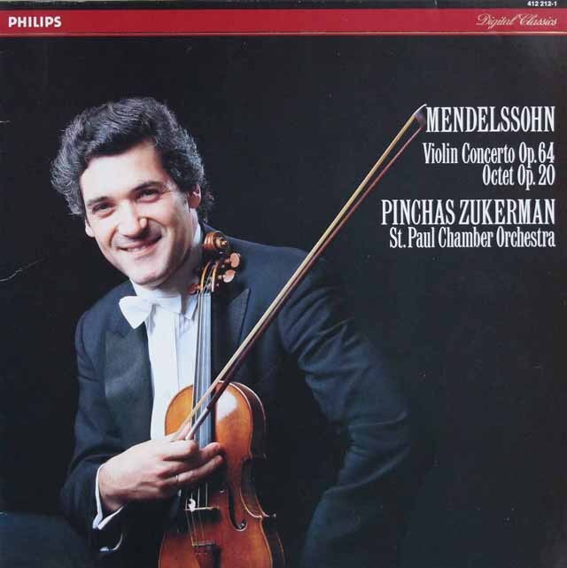 ズッカーマンのメンデルスゾーン/ヴァイオリン協奏曲ほか 蘭PHILIPS 3322 LP レコード