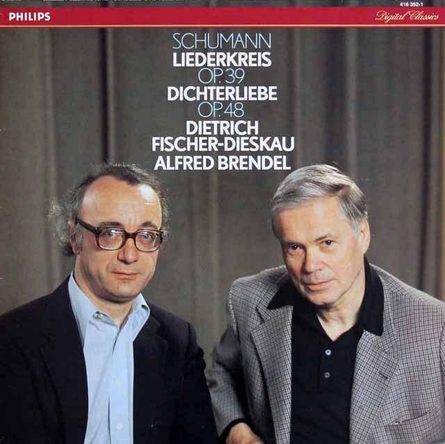 F=ディースカウ、ブレンデルのシューマン/「リーダークライス」、「詩人の恋」  蘭PHILIPS 3322 LP レコード