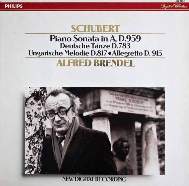 ブレンデルのシューベルト/ピアノソナタ第20番ほか 蘭PHILIPS 3322 LP レコード
