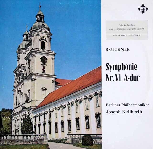 【モノラル】カイルベルトのブルックナー/交響曲第6番 独TELEFUNKEN 3322 LP レコード