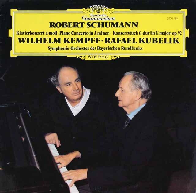 ケンプ&クーベリックのシューマン/ピアノ協奏曲ほか 独DGG 3322 LP レコード