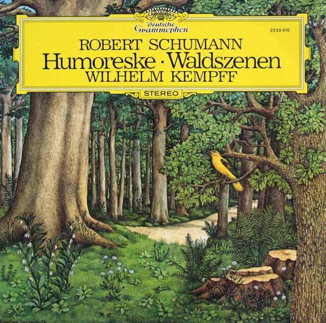ケンプのシューマン/「フモレスケ」、「森の情景」 独DGG 3322 LP レコード