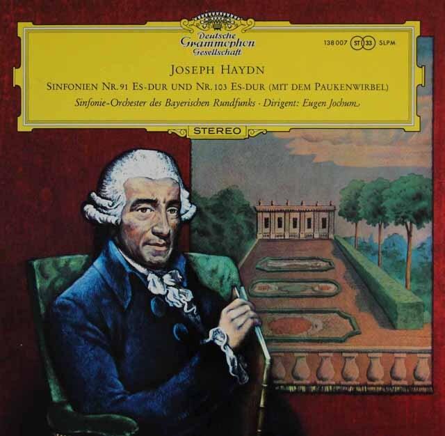 ヨッフムのハイドン/交響曲第91、103番「太鼓連打」 独DGG 3322 LP レコード