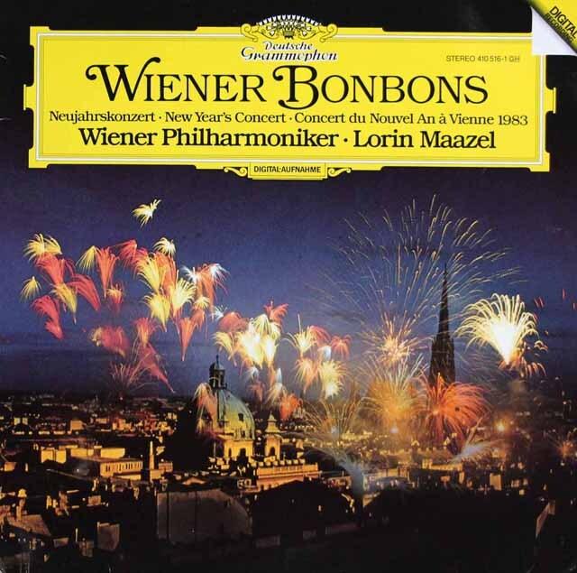 マゼールのニュー・イヤー・コンサート1983 「ウィーンのボンボン」ほか 独DGG 3322 LP レコード