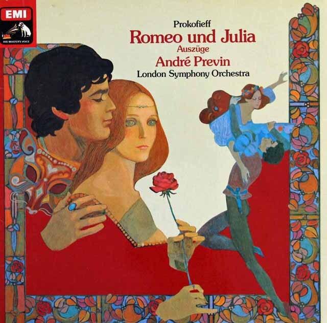 プレヴィンのプロコフィエフ/「ロメオとジュリエット」抜粋 独EMI 3322 LP レコード