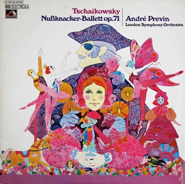 プレヴィンのチャイコフスキー/「くるみ割り人形」(全曲) 独EMI 3322 LP レコード