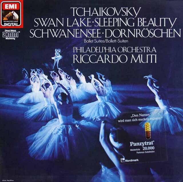 ムーティのチャイコフスキー/バレエ組曲「白鳥の湖」、「眠れる森の美女」 独EMI 3322 LP レコード