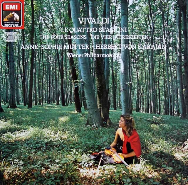 ムター、カラヤンのヴィヴァルディ/「四季」 独EMI 3322 LP レコード