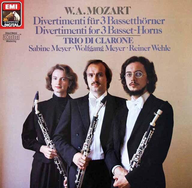 ザビーネ・マイヤーらのモーツァルト/バセットホルンのためのディヴェルティメント 独EMI 3322 LP レコード