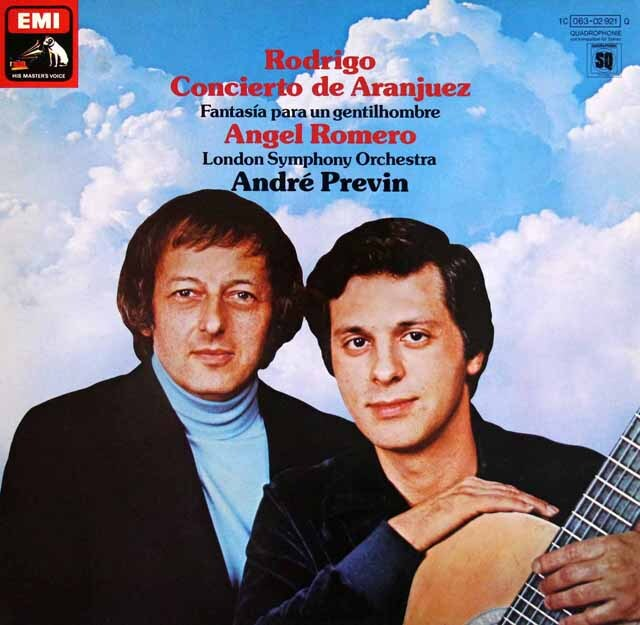 ロメロ&プレヴィンのロドリーゴ/アランフェス協奏曲ほか 独EMI 3322 LP レコード