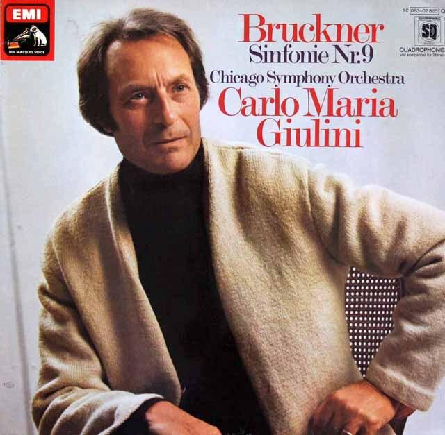ジュリーニのブルックナー/交響曲第9番 独EMI 3322 LP レコード