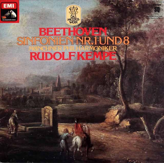 ケンペのベートーヴェン/交響曲第1、8番 独EMI 3322 LP レコード