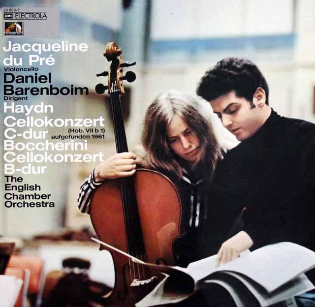デュ・プレのハイドン、ボッケリーニ/チェロ協奏曲 独EMI 3322 LP レコード