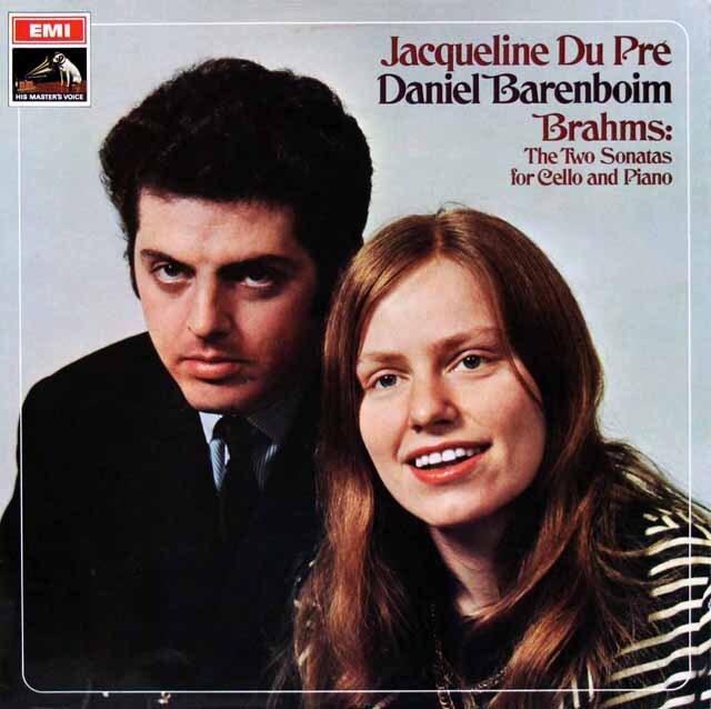 【オリジナル盤】 デュ・プレ&バレンボイムのブラームス/チェロソナタ第1、2番 英EMI 3322 LP レコード