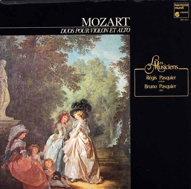 パスキエ兄弟のモーツァルト/ヴァイオリンとヴィオラのための二重奏曲第1、2番 仏HM 3322 LP レコード