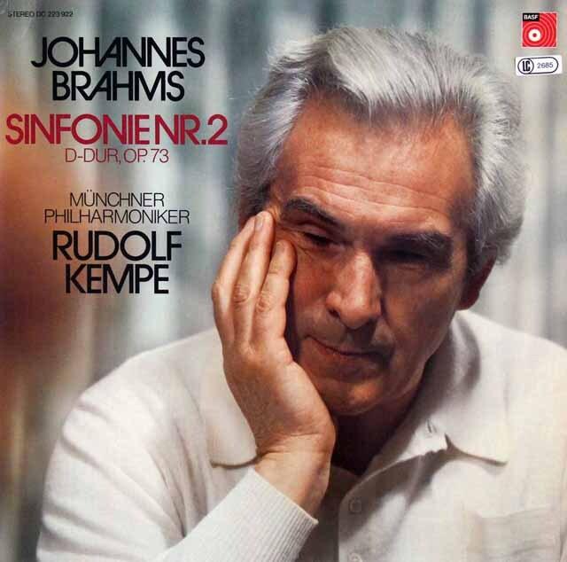 【オリジナル盤】ケンペのブラームス/交響曲第2番 独BASF 3322 LP レコード