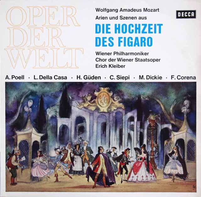 エーリヒ・クライバーのモーツァルト/「フィガロの結婚」(抜粋) 独DECCA 3322 LP レコード