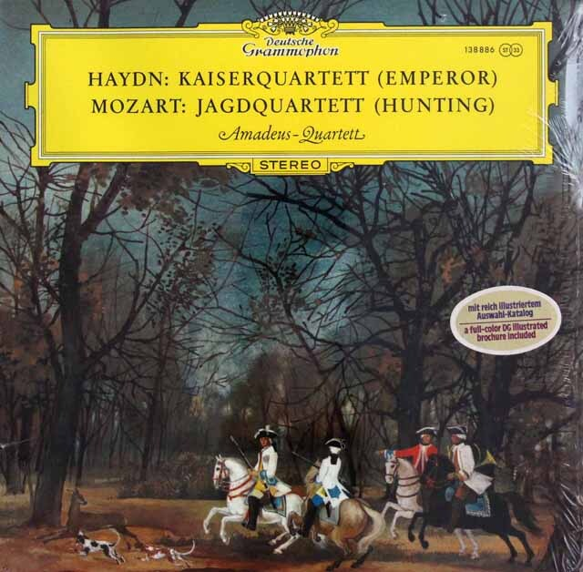 【未開封】 アマデウス四重奏団のハイドン/「皇帝」、モーツァルト/「狩」 DGG 3322 LP レコード